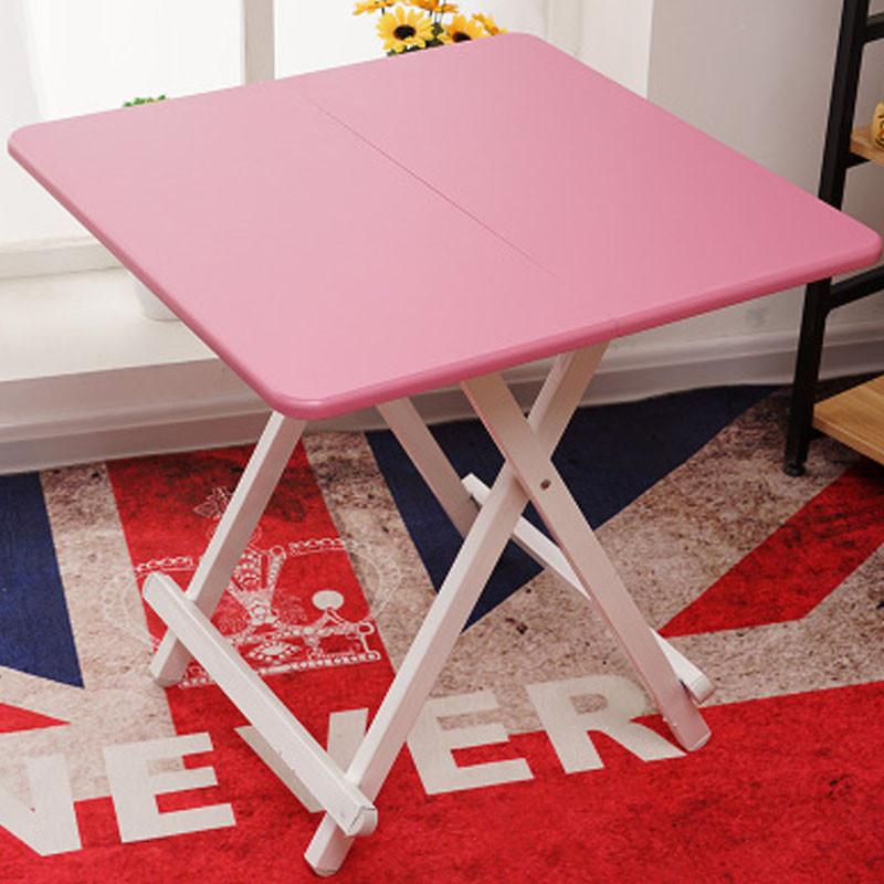 折叠桌面红色可折叠式桌小简易便携可加大户外桌餐桌饭桌吃家用背景方桌实木家具饭桌墙图片