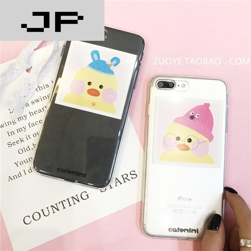 jp潮流品牌mimi网红玻尿酸鸭粉色oppor11手机壳r9s plus可爱少女软壳