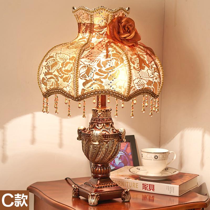 卧室床头灯欧式复古典创意北欧装饰书房客厅艺术台灯床头灯台灯生活