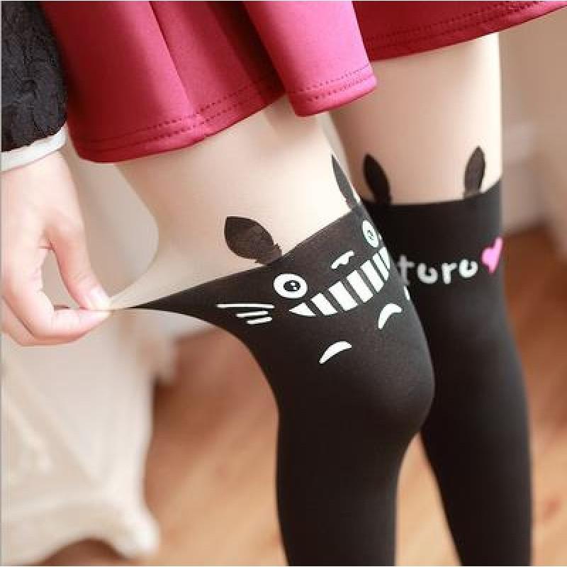 猫爪连裤袜可爱脚印kitty猫咪假大腿袜假拼接领域丝袜猫咪连裤袜 均码