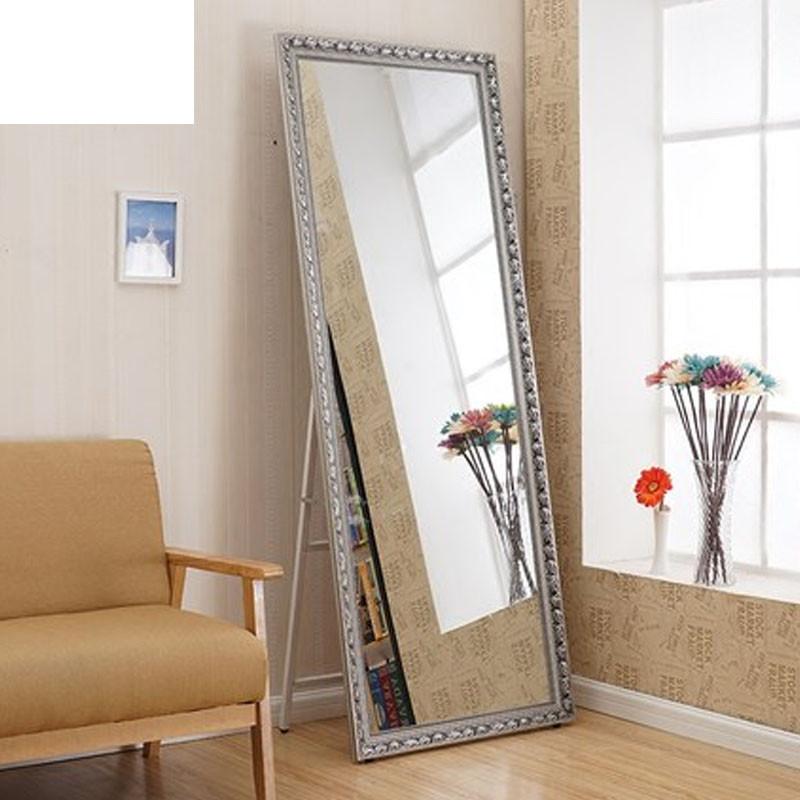 木穿衣镜落地镜长镜子全身镜支架镜立体试衣镜大镜显瘦镜新款穿衣镜子