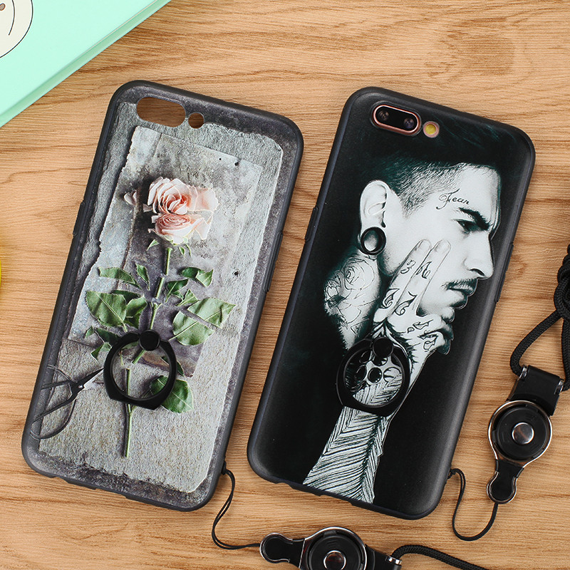 oppo r11 plus 卡通 手机壳 手机套 保护壳 保护套 指环壳 全包 浮雕