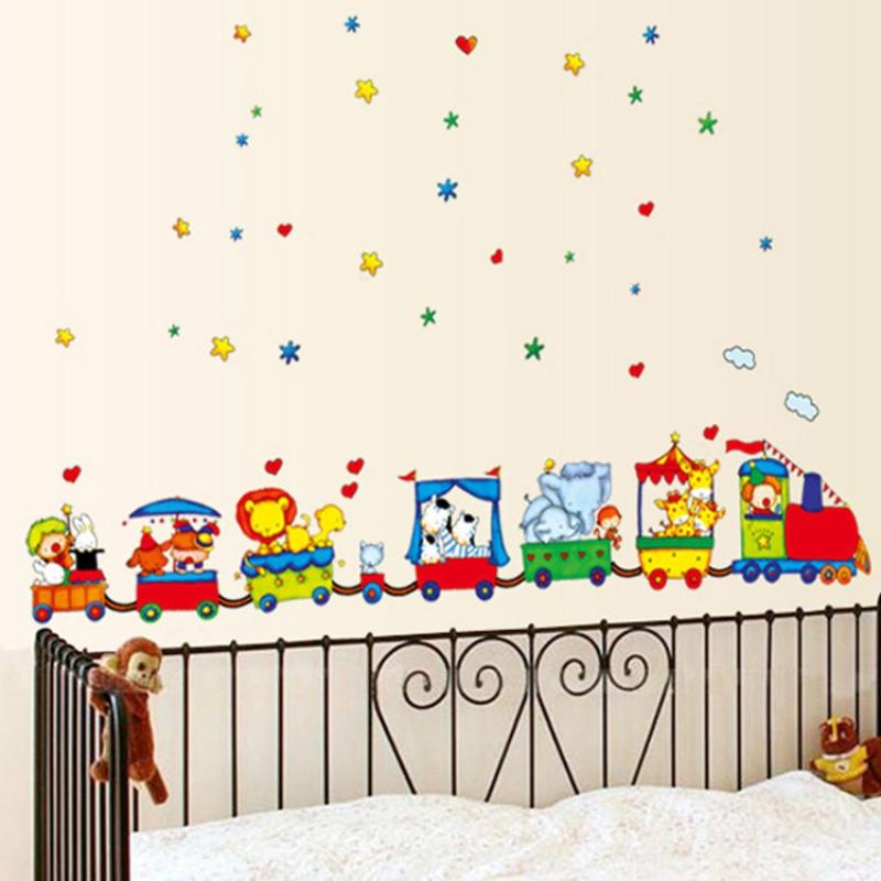 幼儿园儿童房间男孩卧室背景装饰品卡通小汽车墙壁贴画车车墙贴纸