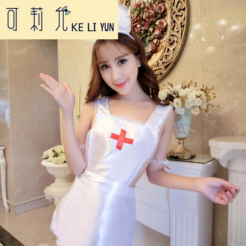 女套装白色缎面极度诱惑大码制服角色扮演女骚 均码适合80-140斤mm