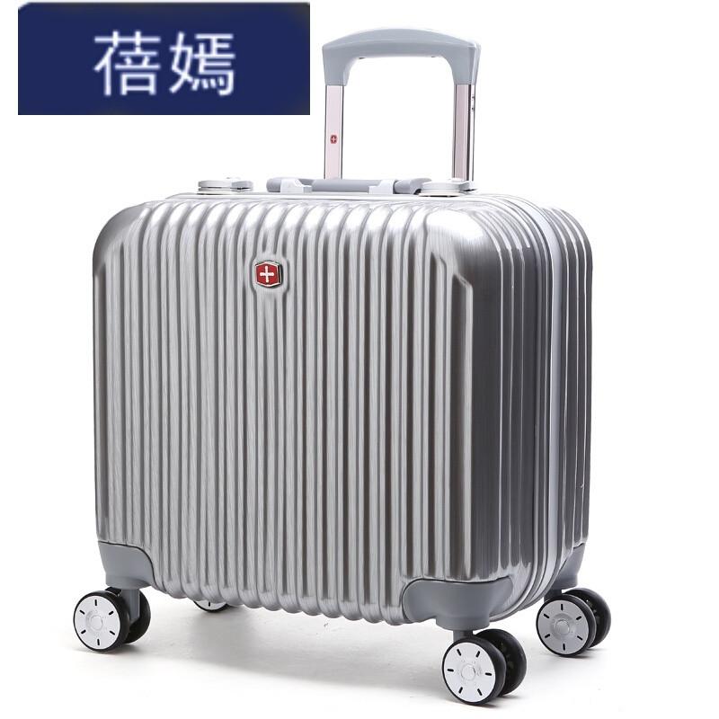 蓓嫣拉杆箱飞机轮寸登机箱铝框硬箱旅行箱商务行李箱银色寸 默认尺寸