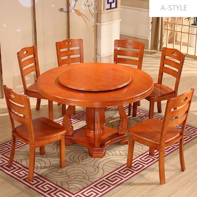 3米1.5米1.8米大圆桌带转盘 1.6米单餐桌不含转盘