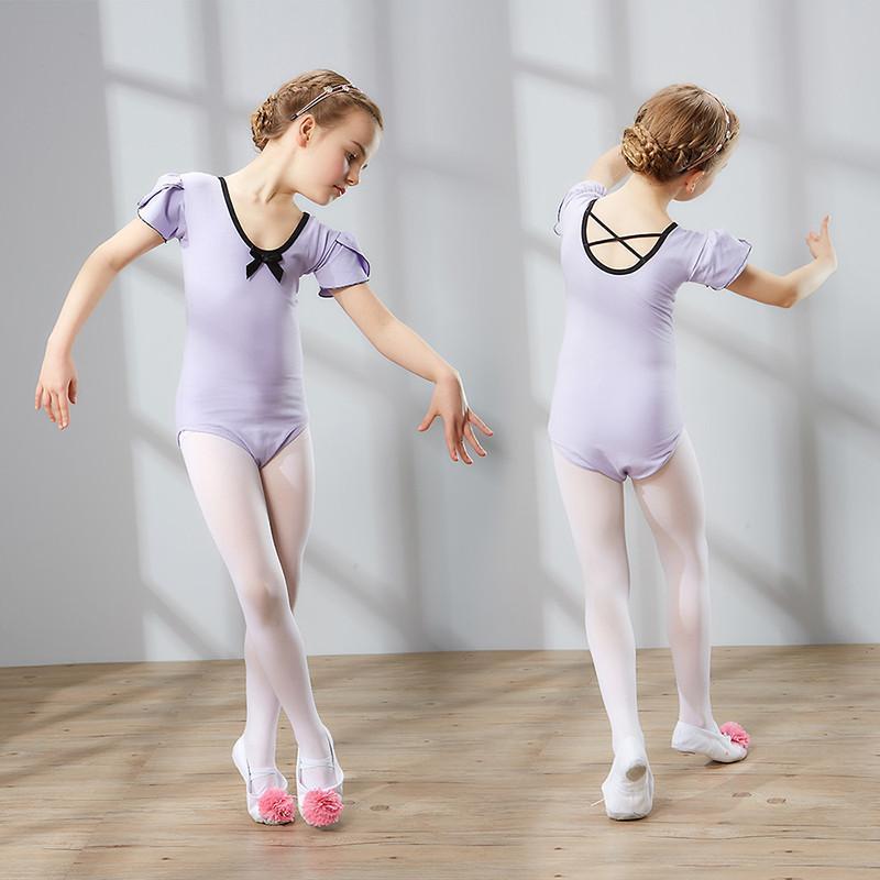 儿童舞蹈服装女童练功服短袖幼儿体操服小孩子考级芭蕾舞服_1 140cm