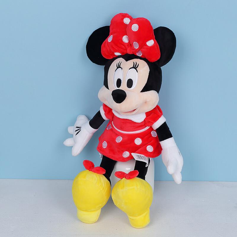 嗨玩米老鼠毛绒玩具布娃娃玩偶可爱女生大号生日礼物牛仔款米妮1.