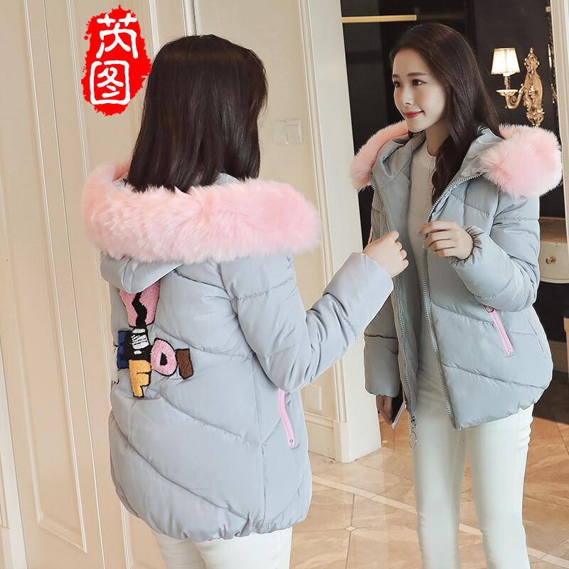 芮图羽绒棉外套2017冬季新款韩版学生少女宽a羽绒v羽绒女生QQ图片