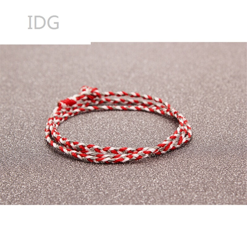 idgtfboys易烊千玺同款手链纯手工编织红绳三生绳男女情侣手链手绳串