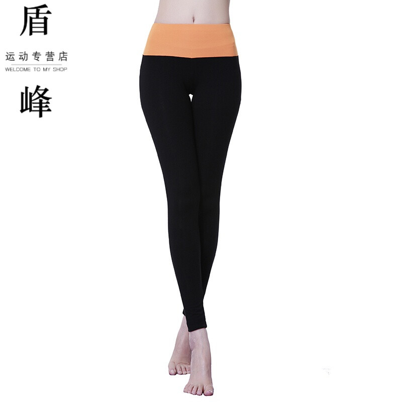 瑜伽健身裤跑步跳舞健美操高床上紧身九分减肥弹力肚子瘦图片