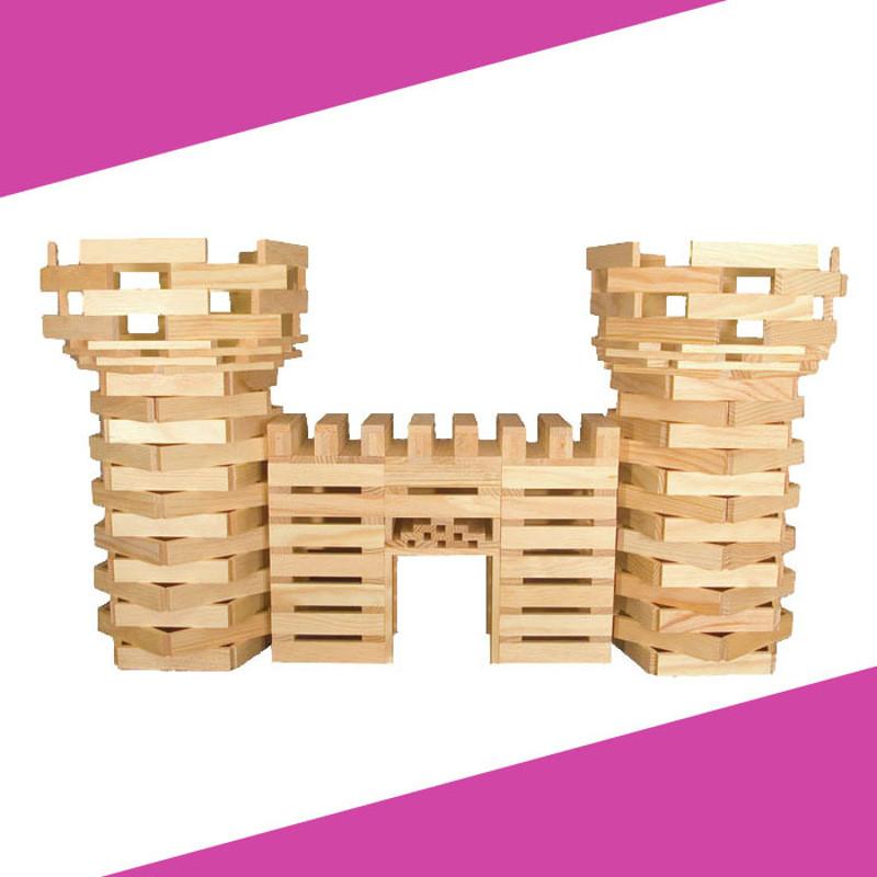 citibl0cs300片堆塔积木原木色实木创意木制拼搭木质玩具3.