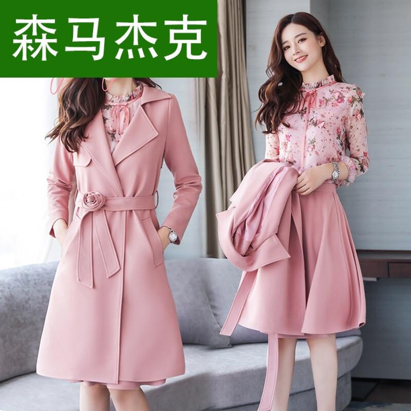 森马杰克欧洲站秋款套装裙女装2017新款两件套时髦小香风时尚气质高腰图片