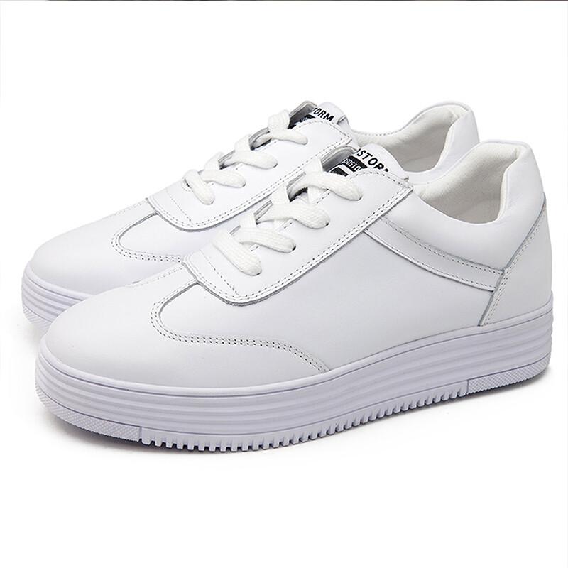 厚底舒适时候小白鞋2017新品女生风低帮百搭安全期女生什么学院是