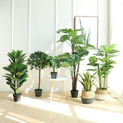 北欧创意室内装饰花卉绿植盆栽大盆景橄榄树仿真植物客厅落地摆件_2图片
