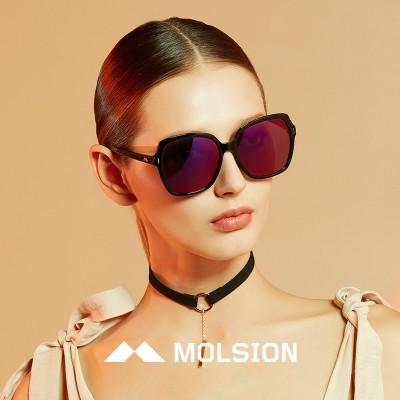 molsion陌森眼镜angelababy同款2018年春夏新款女士太阳镜大脸墨镜ms图片