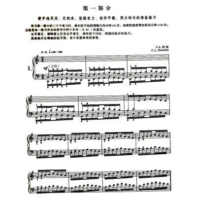 哈农钢琴指法练习60首(附光盘)图片