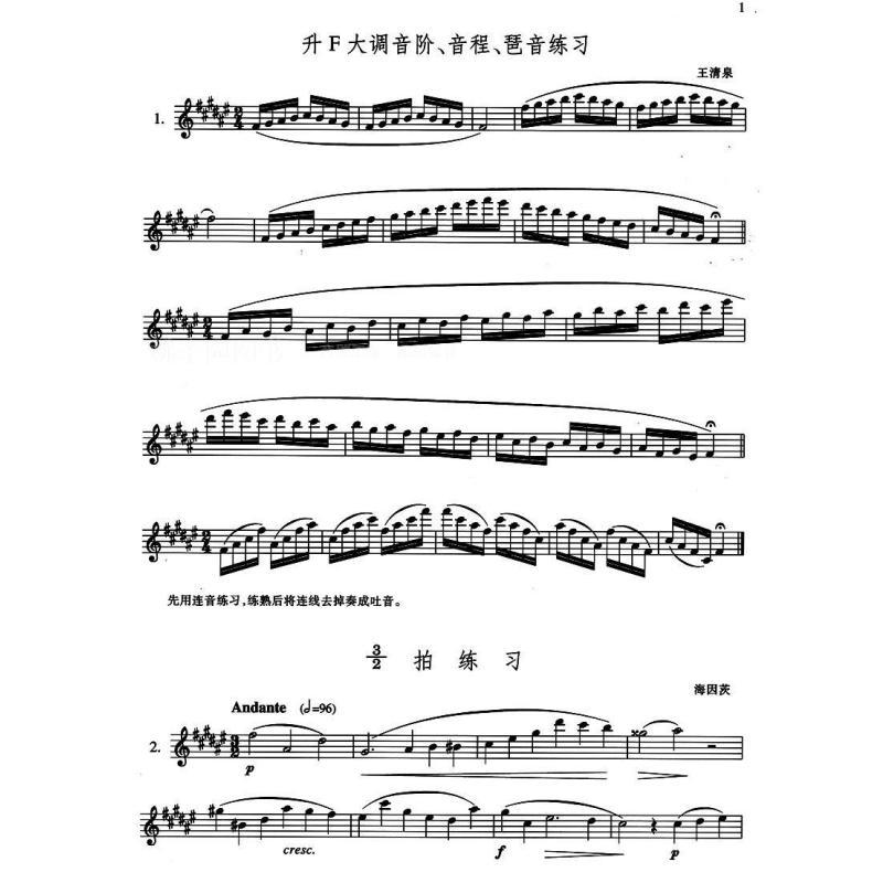 萨克斯管练习曲集(5)