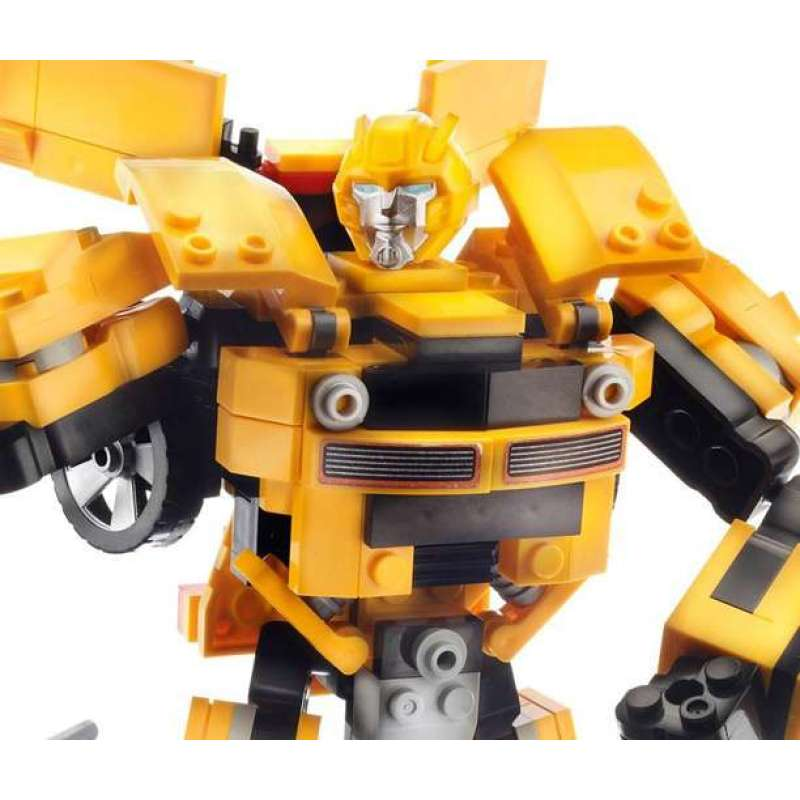 孩之宝酷垒变形金刚积木之大黄蜂h36421