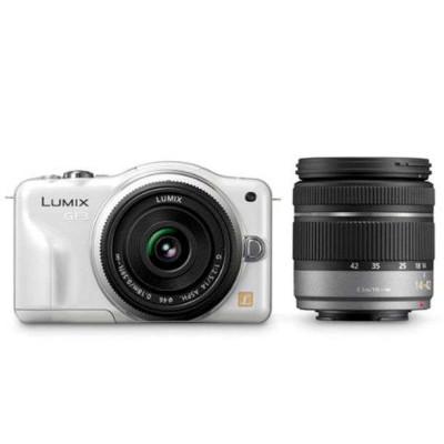 Panasonic 松下 Lumix DMC-GF3WGK 微单双头套机(14-42、14mm定焦)