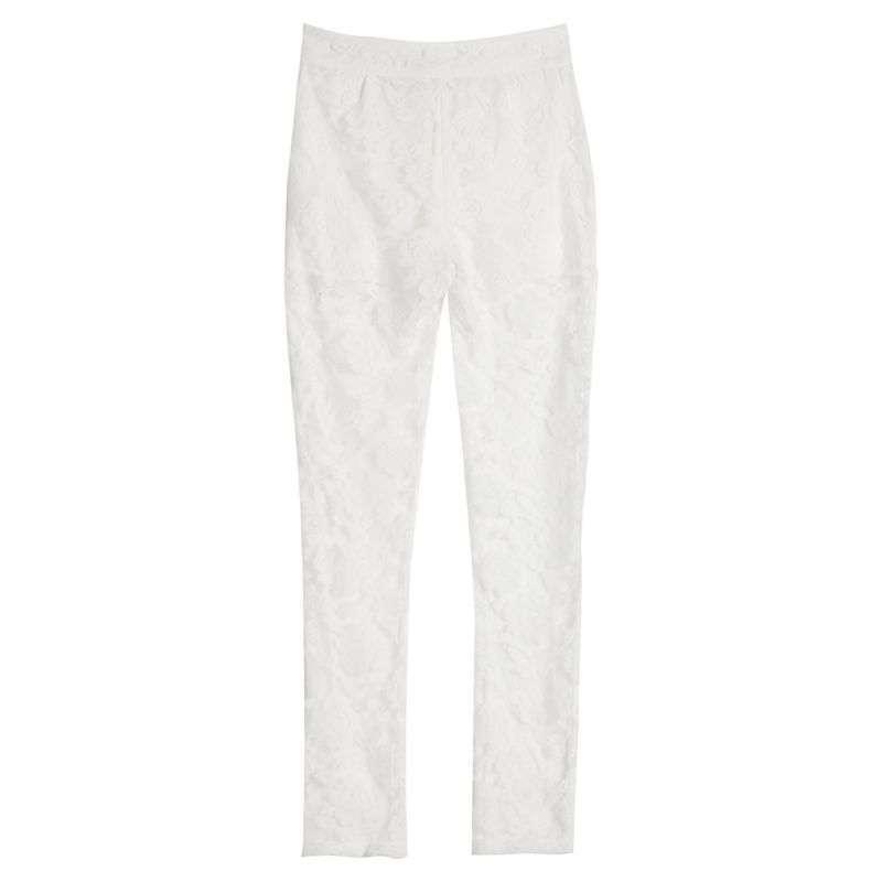 男装 男士t恤 欧莱诺(olomo) olomo女装蕾丝雪纺双层花纹长裤1.