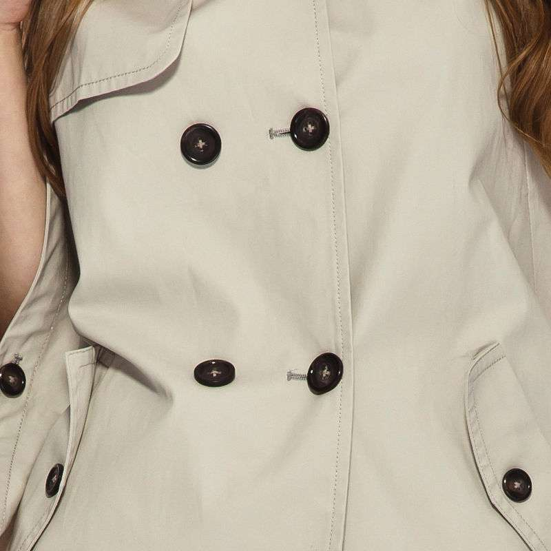 idf依迪菲女装双排扣翻领女式斗篷风衣外套fwf211a(水晶灰/s)