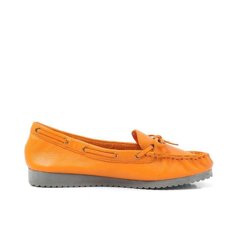 思加图2012秋季橙色软牛皮女皮鞋9ee09d