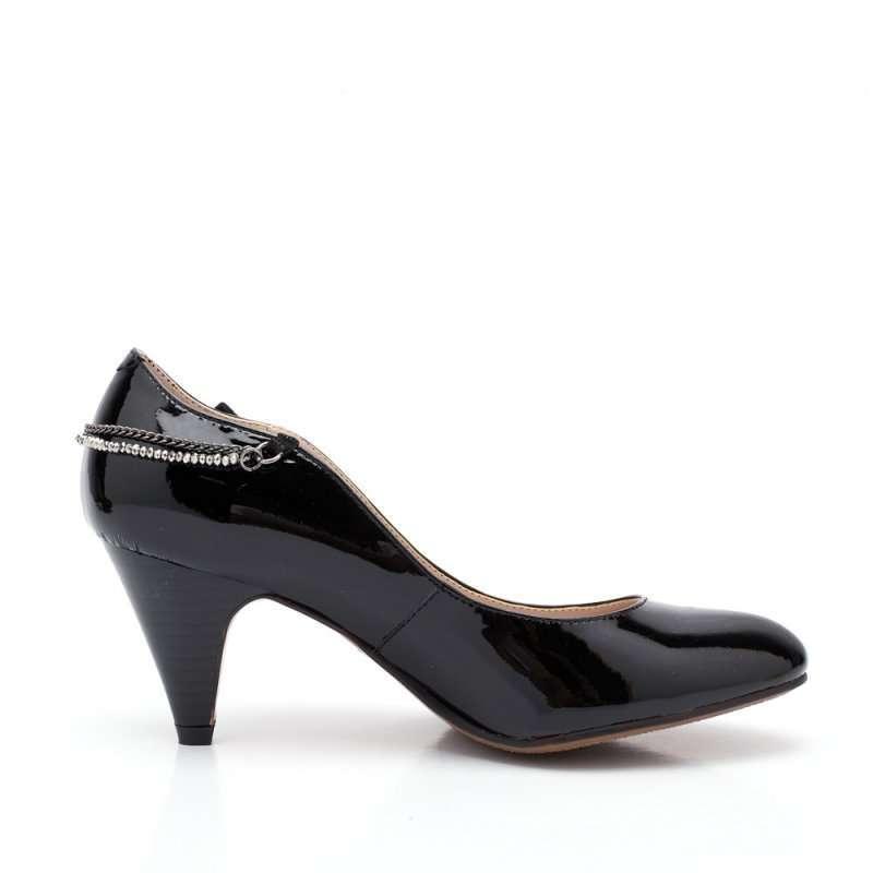 森达2012春季黑漆牛女单鞋4ak61d