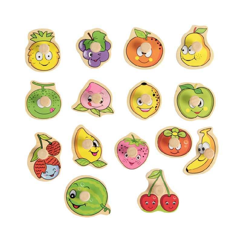水果认知板木制拼图拼板