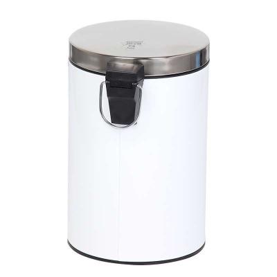 世家圆形平盖脚踏式垃圾桶7l图片