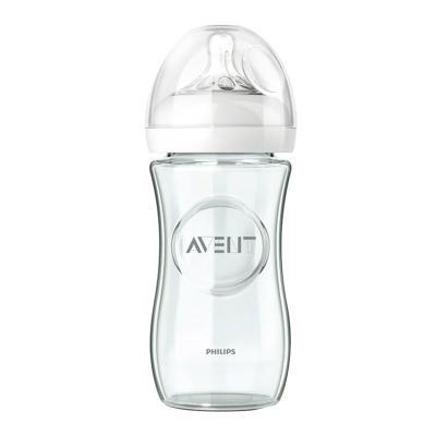 新安怡-宽口径自然原生玻璃奶瓶8oz/240毫升 ¥88