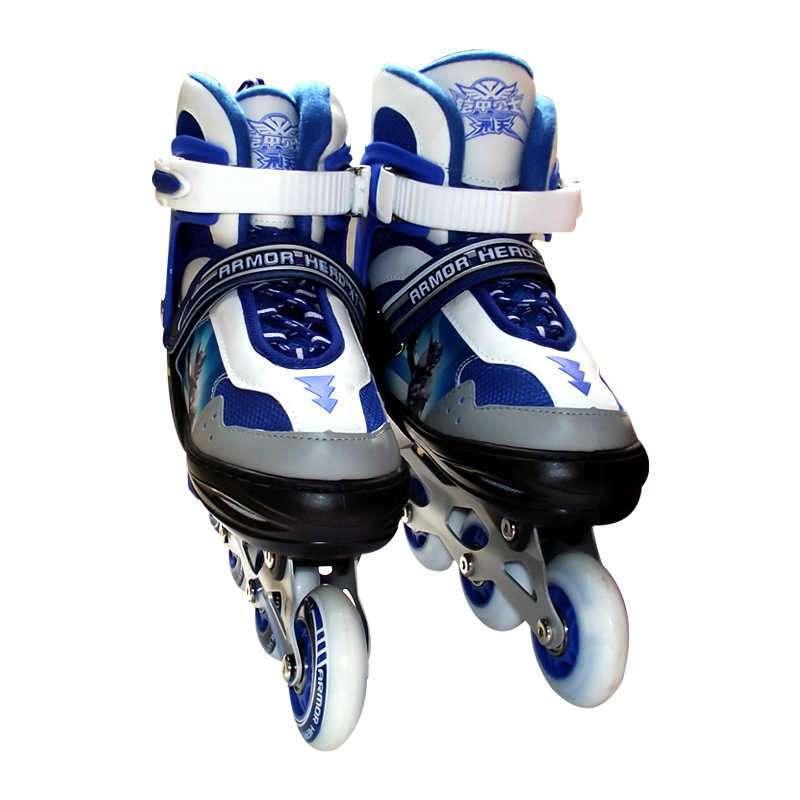 乐士铠甲勇士高档铝架软面可调节溜冰鞋kj-332