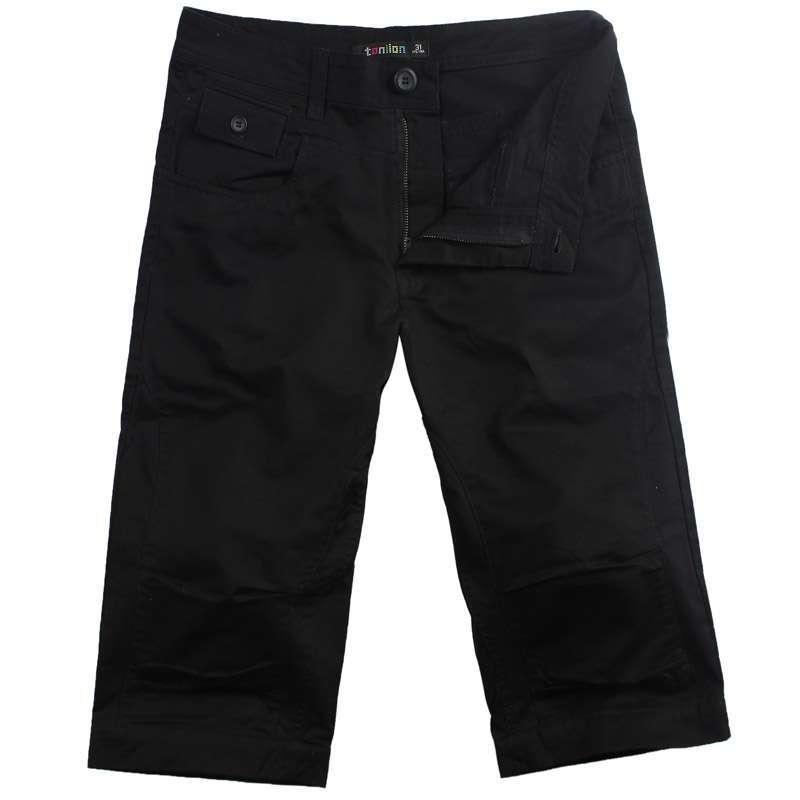 唐狮 男式 分割线细节休闲裤111212092020(黑色33)