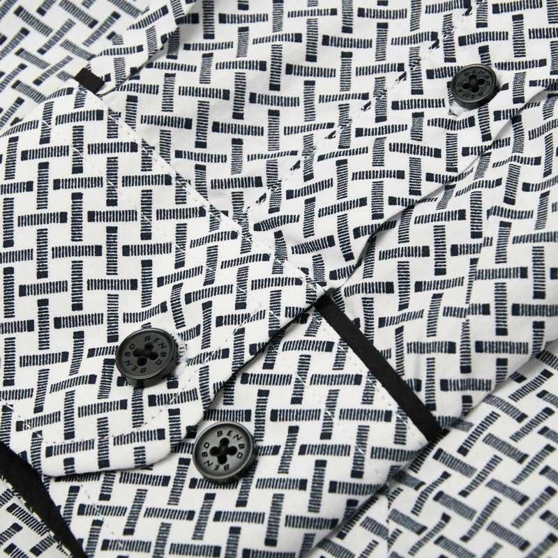 男装花纹修身长袖衬衫31171123