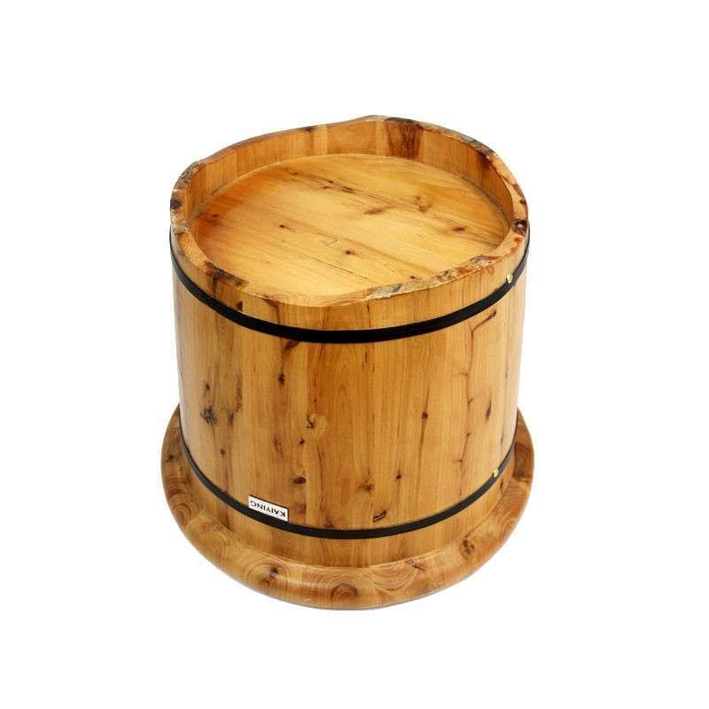 圆形双边香柏木桶 泡脚桶