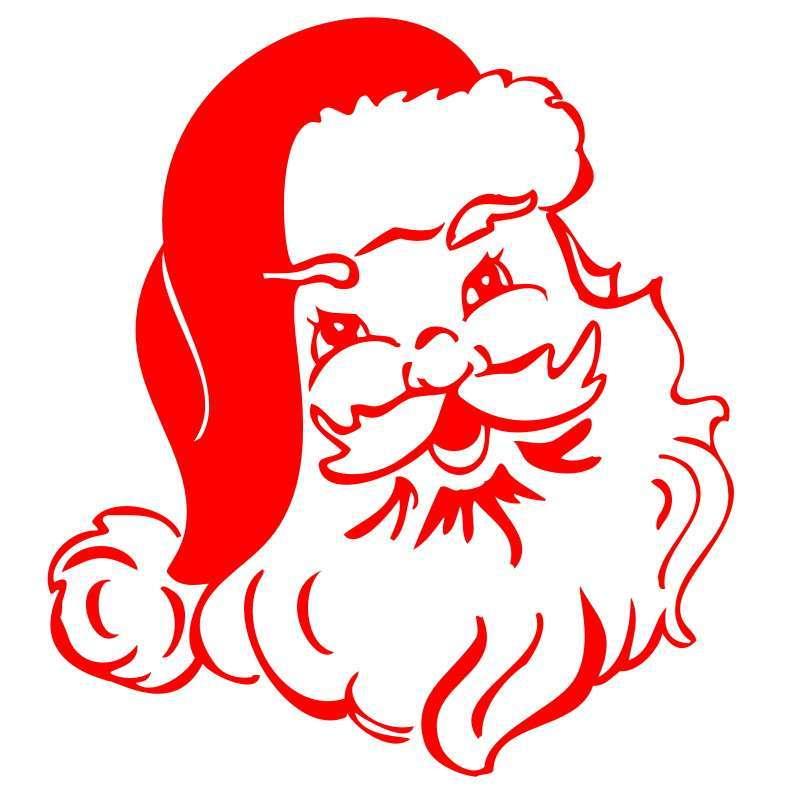 圣诞节 墙贴 实体橱窗店铺贴圣诞树圣诞老人雪人铃铛