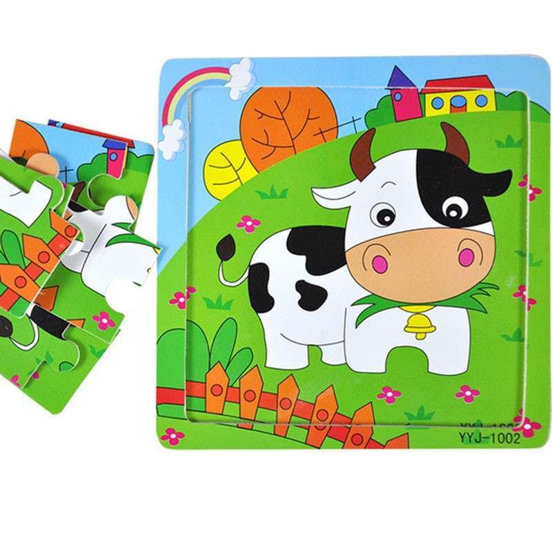 【】儿童木质益智拼图玩具