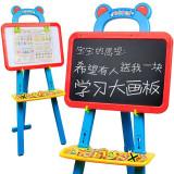 儿童磁性画板 超大双面画板可升降宝宝画板画架套装小黑板支架式