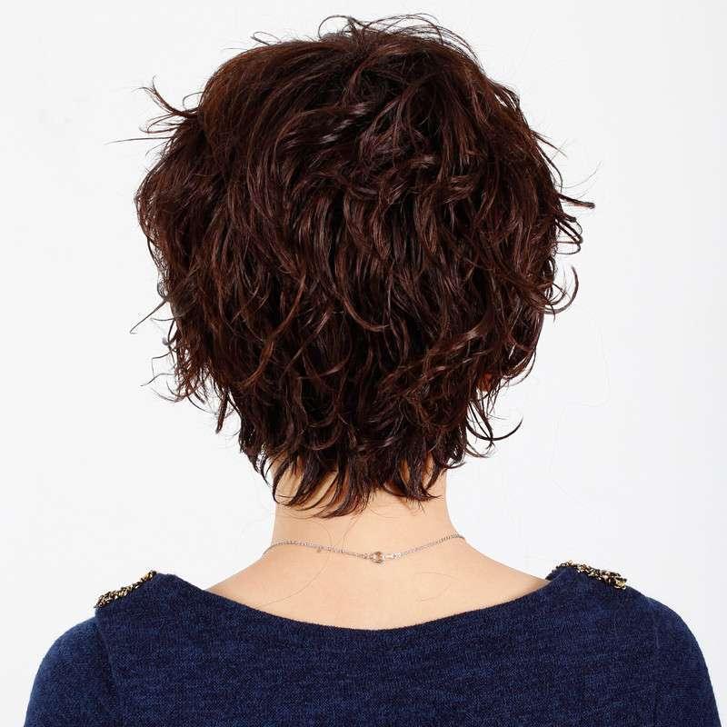 玫瑰雨珍珠名媛清爽者哩小碎卷假发短发 女士假发
