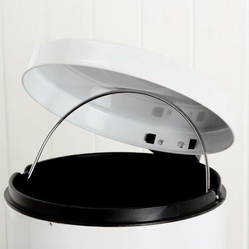 亮光时尚欧式圆形家用脚踏垃圾桶