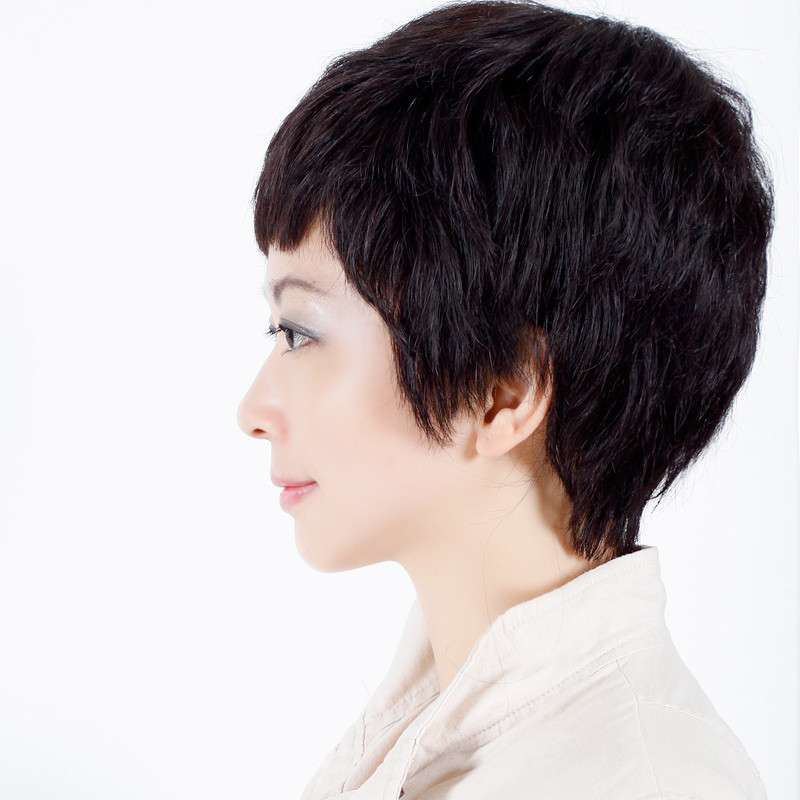 玫瑰雨 女士中老年假发短发女
