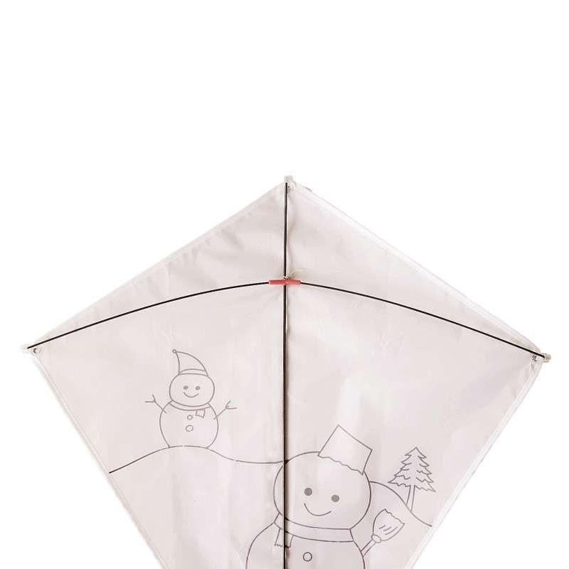 diy填色风筝手工材料包 儿童绘画教学创意涂鸦彩绘 圣诞礼物雪人(无忧