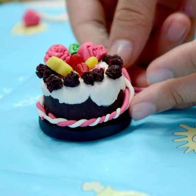 橡皮泥蛋糕步骤
