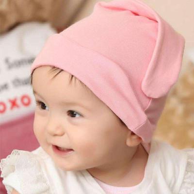 公主妈妈超萌大睫毛婴儿睡帽新生儿套头帽宝宝纯棉睡眠帽婴儿帽胎帽