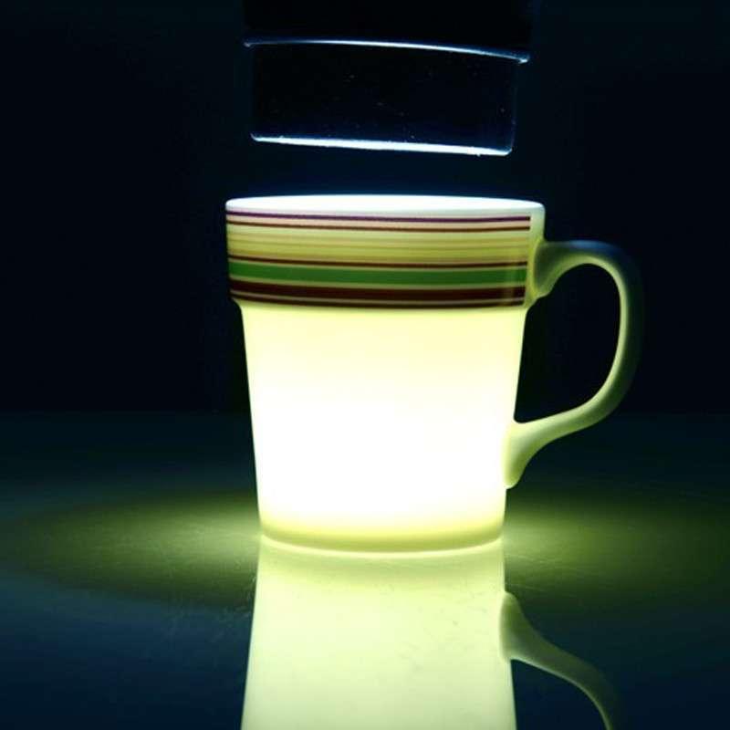 德国设计 时尚骨瓷 创意马克杯子 情侣水杯 彩条缤纷 蓝色