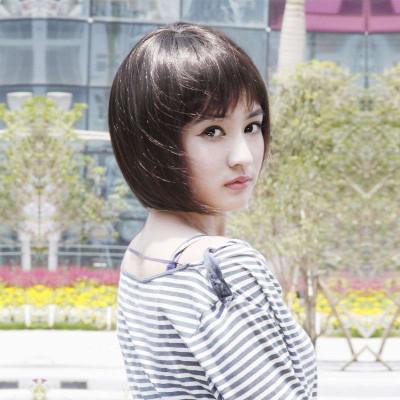 娇滴假发女短直发bobo头发型高温丝甜美可爱型齐刘海蓬松短发包邮 s图片