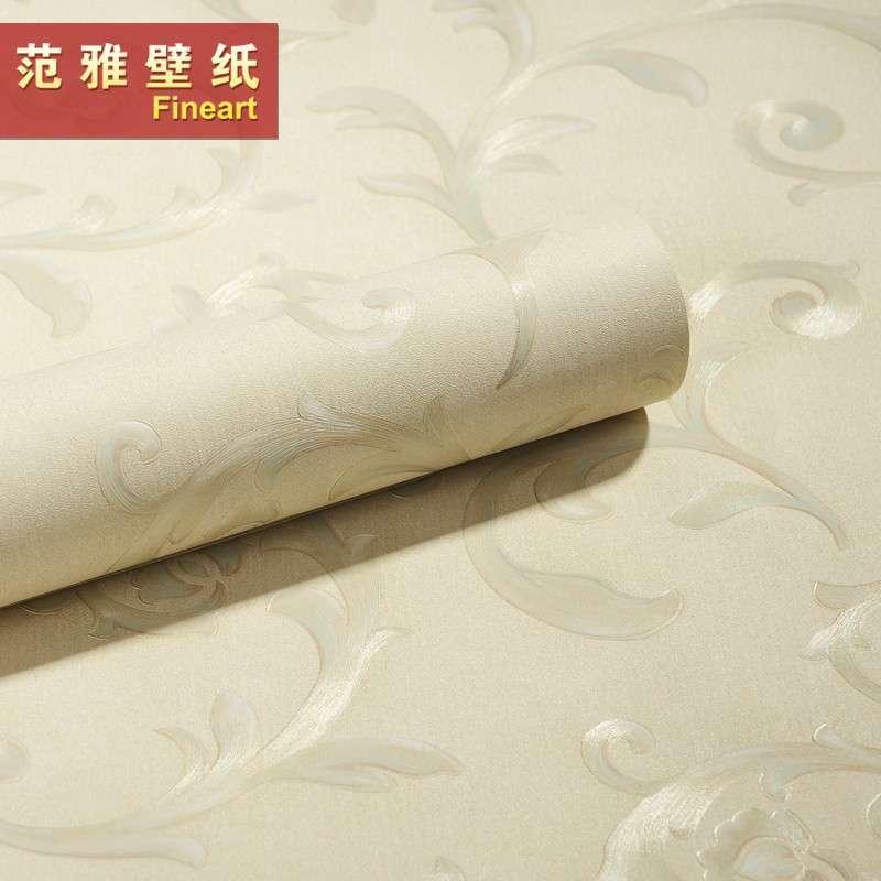 【范雅壁纸】范雅壁纸欧式古典莨苕叶壁纸卧室客厅