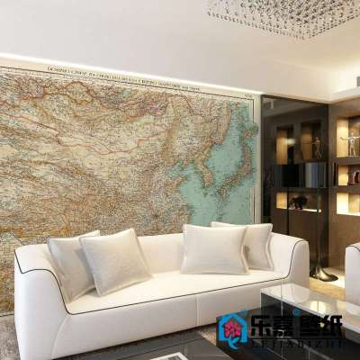 复古中国地图m536-1