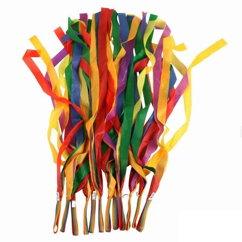 dms 大贸商 彩虹飘带 舞蹈丝带 彩带 儿童玩具 12个