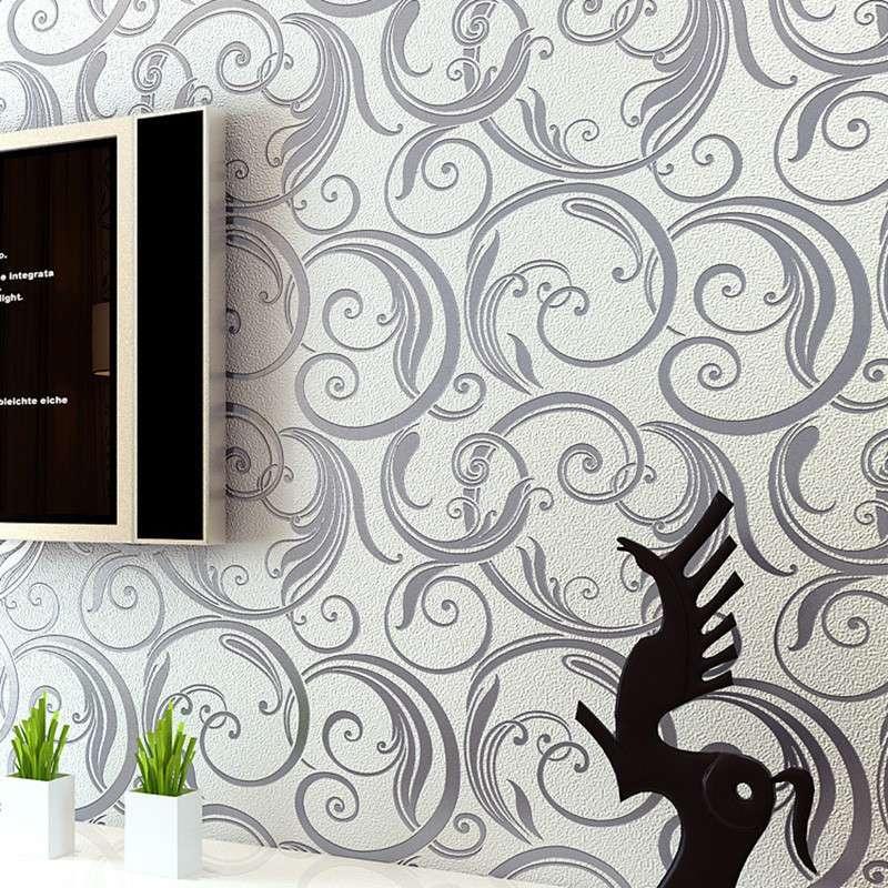 欧式简约抽象花纹墙纸